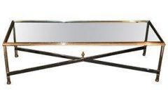 Contemporary Vintage Glass Coffee Table