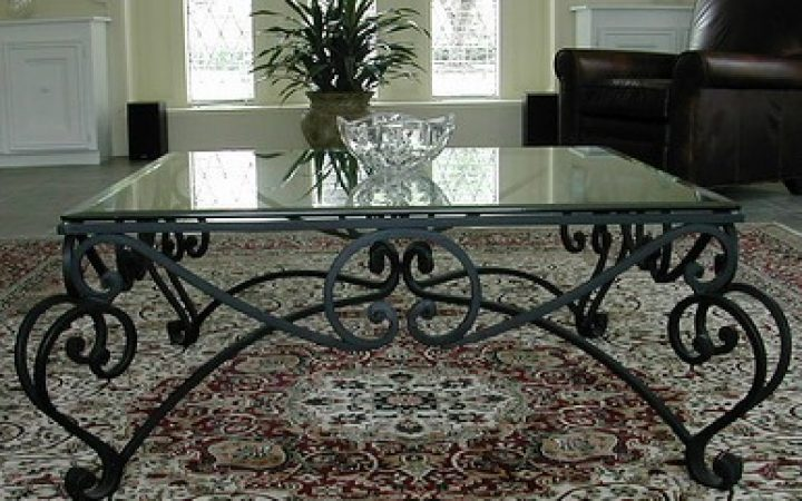 Wrought Iron Glass Coffee Tables