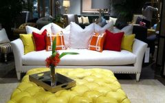 Yellow Ottoman Coffee Table