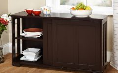 Espresso Sliding Door Stackable Buffets