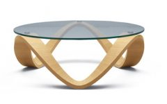 Modern Contemporary Round Glass Coffee Table Sets