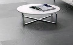 Modern Round Coffee Table Metal Legs