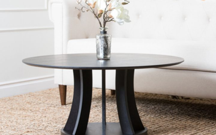 Brown Espresso Round Coffee Table Interior