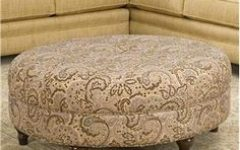 Round Fabric Coffee Table Ottoman