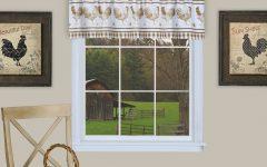 Barnyard Buffalo Check Rooster Window Valances
