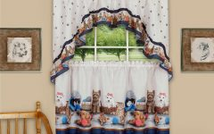 Multicolored Printed Curtain Tier and Swag Sets