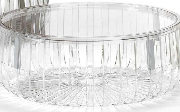 Small Round Acrylic Coffee Table