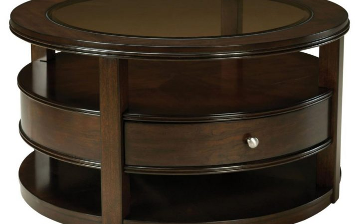 Round Coffee Tables with Drawers for Storage