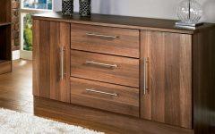 Walnut Finish 2-door/3-drawer Sideboards