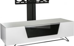 White Cantilever Tv Stand
