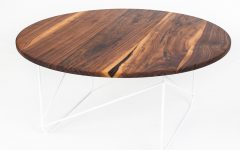 Dark Round Walnut Coffee Table