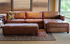 Vintage Leather Sectional Sofas