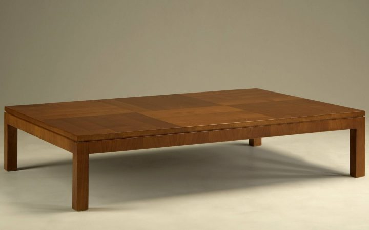 Large Low Wooden Coffee Tables