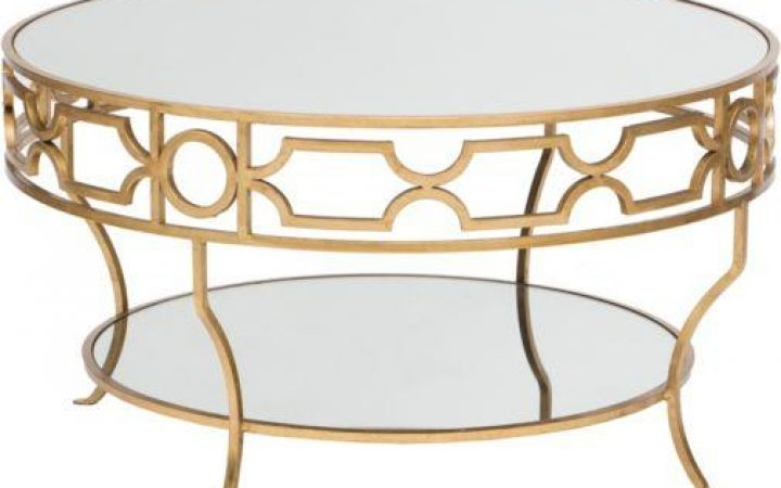 Cheap Mirrored Round Coffee Table