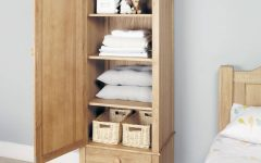 Single Wardrobe with Drawers and Shelves
