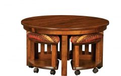 Solid Round Mission Coffee Table Furniture
