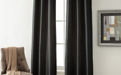 Overseas Faux Silk Blackout Curtain Panel Pairs