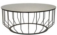 Round Iron Coffee Table Glass Top