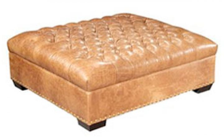 Large Leather Storage Ottoman Coffee Tables