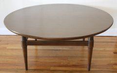 Dark Brown Round Coffee Table Set