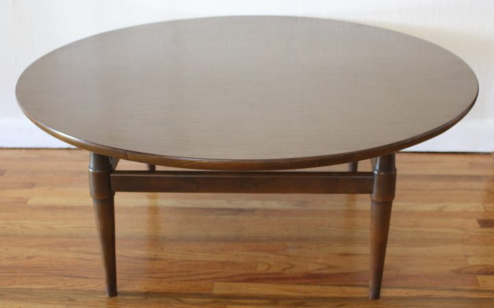 Dark Brown Round Coffee Table Set