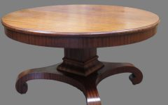 Round Antique Coffee Table for Living Room
