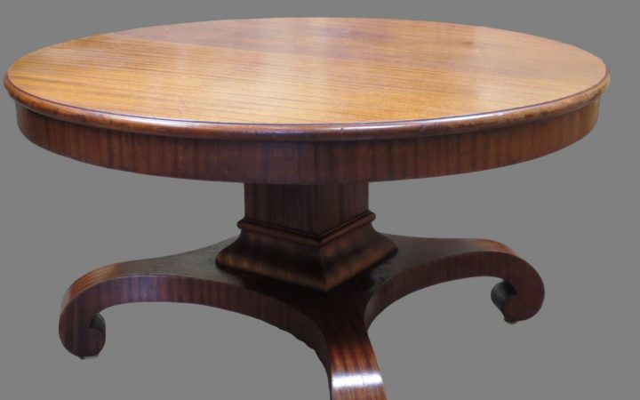 Antique Round Mahogany Coffee Table