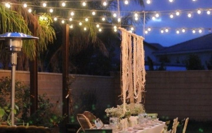 Outdoor Patio Hanging String Lights