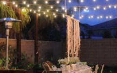 Hanging Outdoor Lights in Backyard
