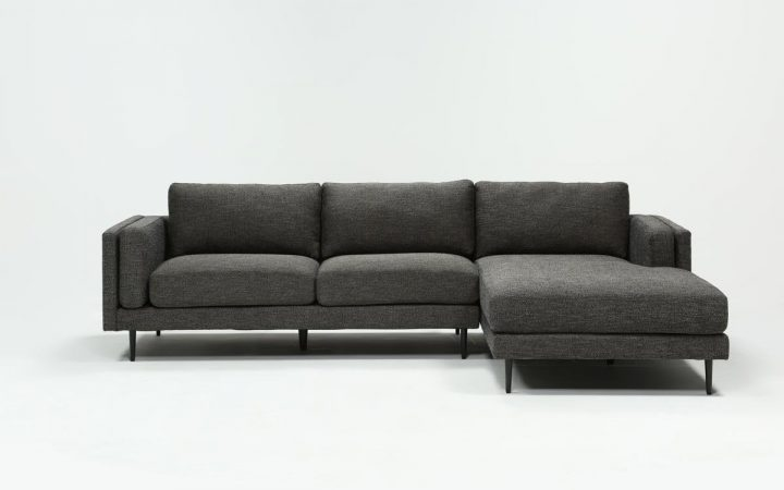 Aquarius Dark Grey 2 Piece Sectionals with Raf Chaise