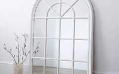 White Arched Window Mirrors