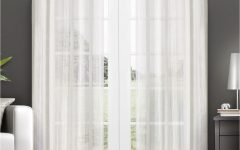 Penny Sheer Grommet Top Curtain Panel Pairs