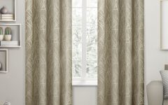 Twig Insulated Blackout Curtain Panel Pairs with Grommet Top