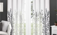 Wilshire Burnout Grommet Top Curtain Panel Pairs