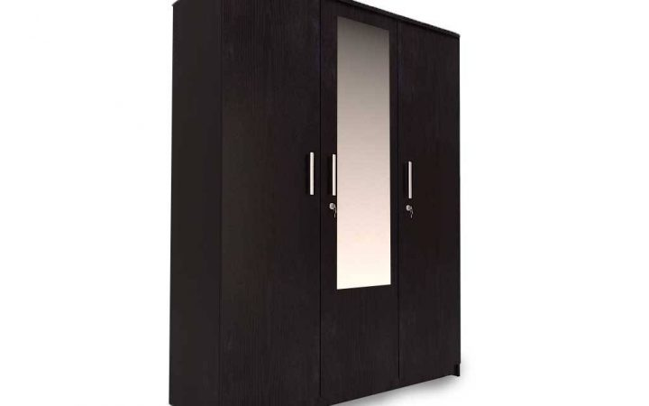 3 Doors Wardrobes with Mirror
