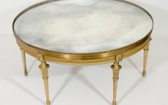 Elegant Mirrored Coffee Table Round