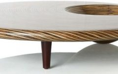 Wood Round Coffee Table Modern