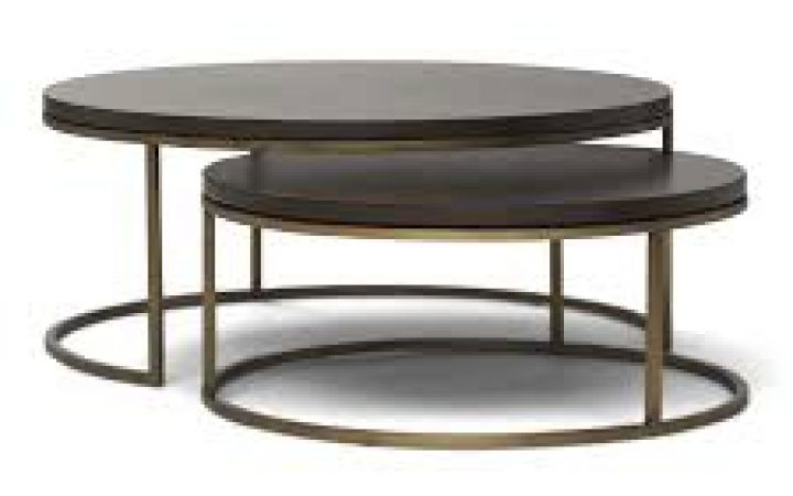 Contemporary Nesting Coffee Table Round