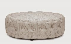 Round Tufted Coffee Table Ottoman