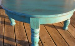 Small Distressed Round Coffee Table