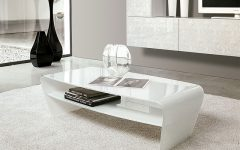 White Modern Coffee Table  Simple