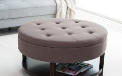 Large Round Ottoman Coffee Tables Living Room