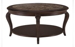 Round Dark Wood Coffee Table Furniture