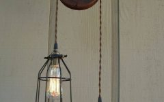 Double Pulley Pendant Lights