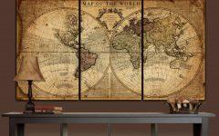 World Map Wall Art Framed
