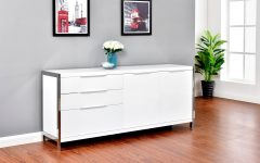 Modern Lacquer 2-Door 3-Drawer Buffets