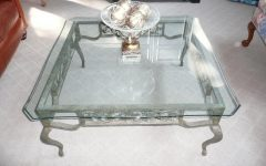 Beveled Glass Coffee Table Ovals