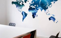Wall Art Stickers World Map