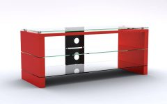 Black and Red Tv Stands