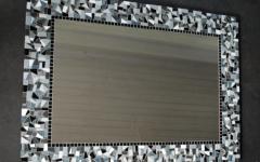 Black Mosaic Mirrors